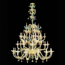 Bach chandelier Rezzonico in Murano glass