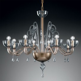 Murano chandelier Adonis 8 lights