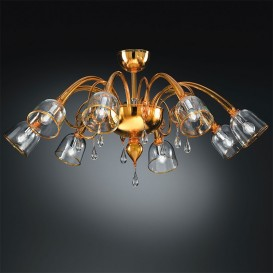 Murano ceiling light Adonis 8 lights