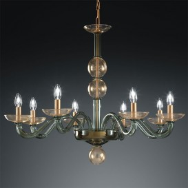 Murano chandelier Diomedes 8 lights