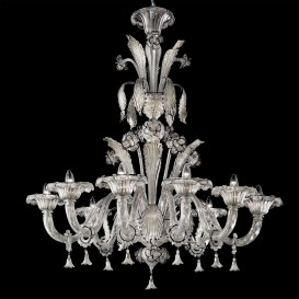 Silver Moon - Murano glass chandelier