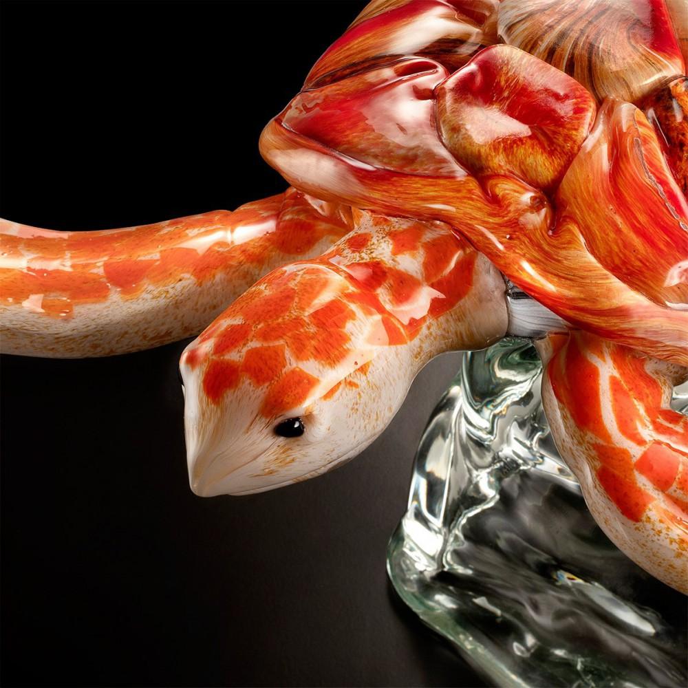Corteccia - Lampadario in vetro di Murano