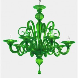 San Marco - Murano glass chandelier green glass