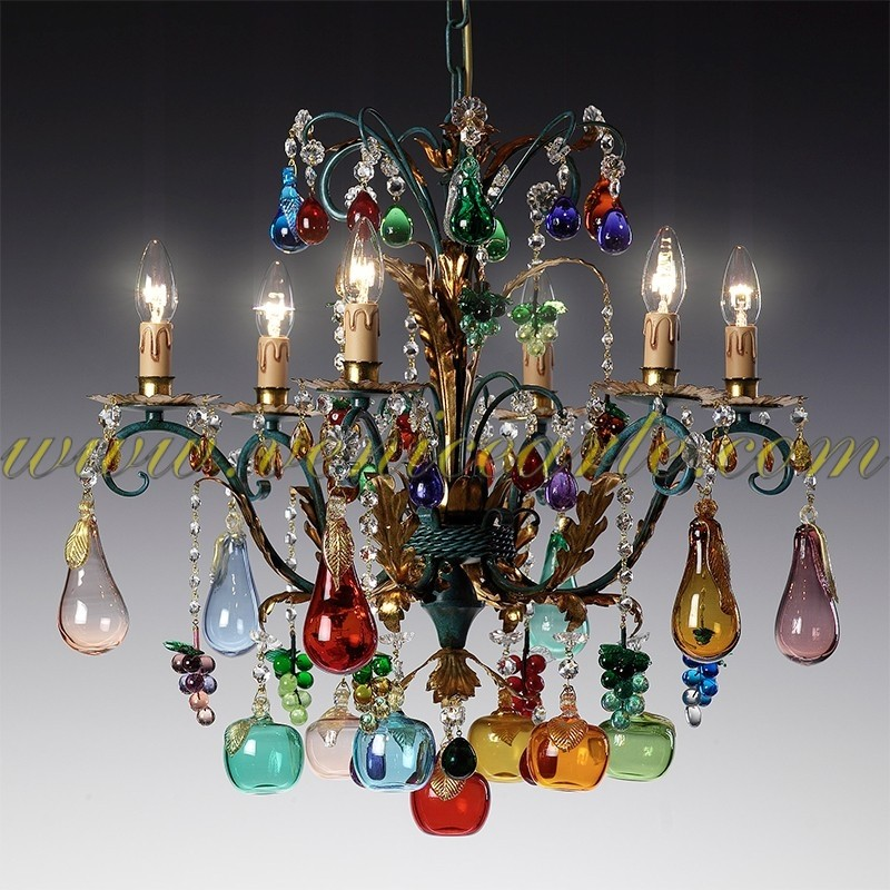 chandeliers singles l with glass shop murano vintage accents of crystal chandelier blue