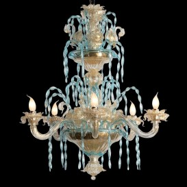 Ca' Loredan - Murano glass chandelier 6 lights