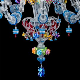 Strauss - Murano glass chandelier detail
