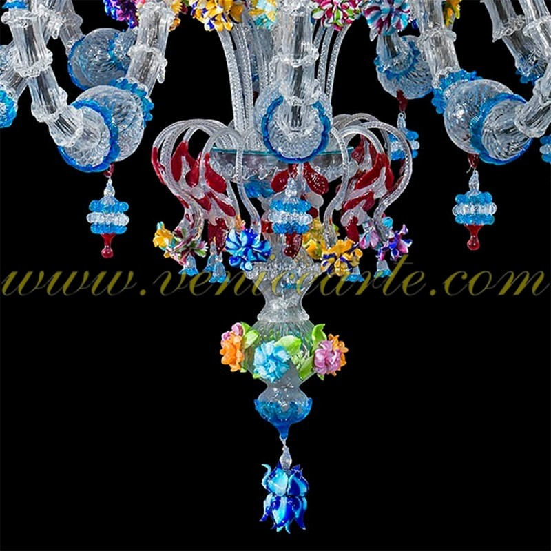 Classic Murano Chandeliers For Luxury Hotel In Florence: Murano Glass Chandelier