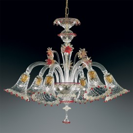 Campiello - Murano glass chandelier 6 lights