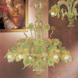 Caterina - Murano glass chandelier 6 lights