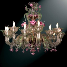 Contarini - Murano glass chandelier 16 lights