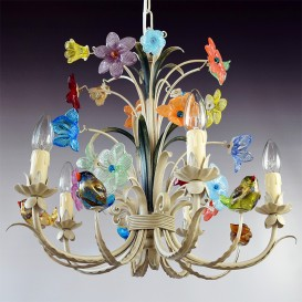 Birds - Murano glass chandelier