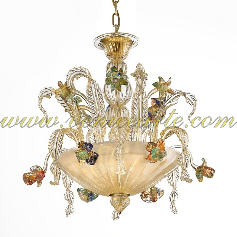 lugano murano glass chandelier. Black Bedroom Furniture Sets. Home Design Ideas