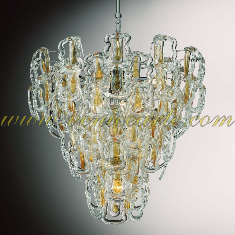 glass nella hanging chandelier white in vetrina veneziani chandeliers lights murano