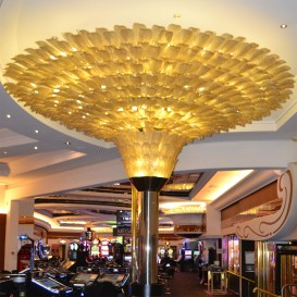 Golden leaves 1.000 - Murano glass chandelier