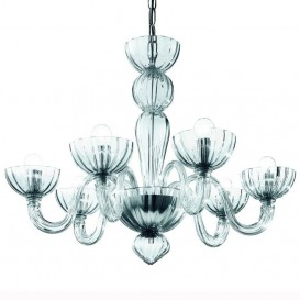 Malamocco - Murano chandelier 6 lights Crystal