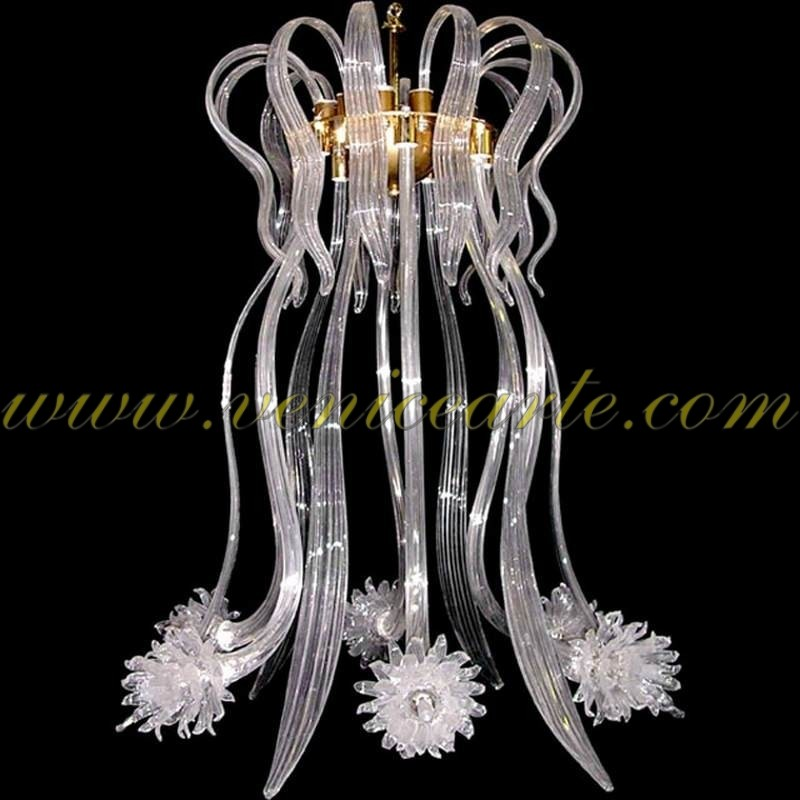 Jellyfish murano glass chandelier jellyfish mozeypictures Gallery