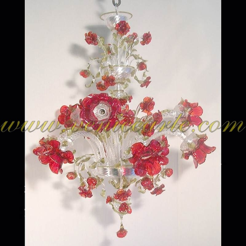 Red Chandelier southnextus – Red Murano Glass Chandelier