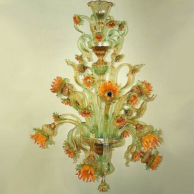 Van Gogh Sunflowers 9 lights - Murano chandelier
