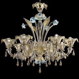Roma Rezzonico - Murano glass chandelier 8 lights