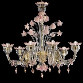Roma Rezzonico - Murano glass chandelier 6 lights