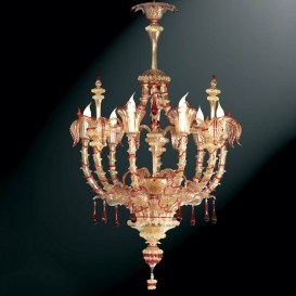 Fontego - Murano glass chandelier 6 lights