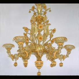 Labia - Murano glass chandelier 6 lights