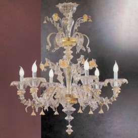 Tiziano - Murano glass chandelier Rezzonico 6 lights