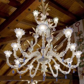 Murano glass chandelier Boston 15 lights