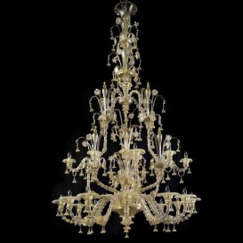 Murano glass chandelier Rezzonico Las Vegas 24 lights