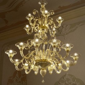 Murano chandelier Lyon 18 lights