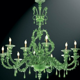 Murano glass chandelier Rezzonico Brandolini 12 lights