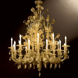 Murano glass chandelier Rezzonico Prezioso 18 lights