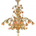 Sunflowers amber - Murano glass chandelier
