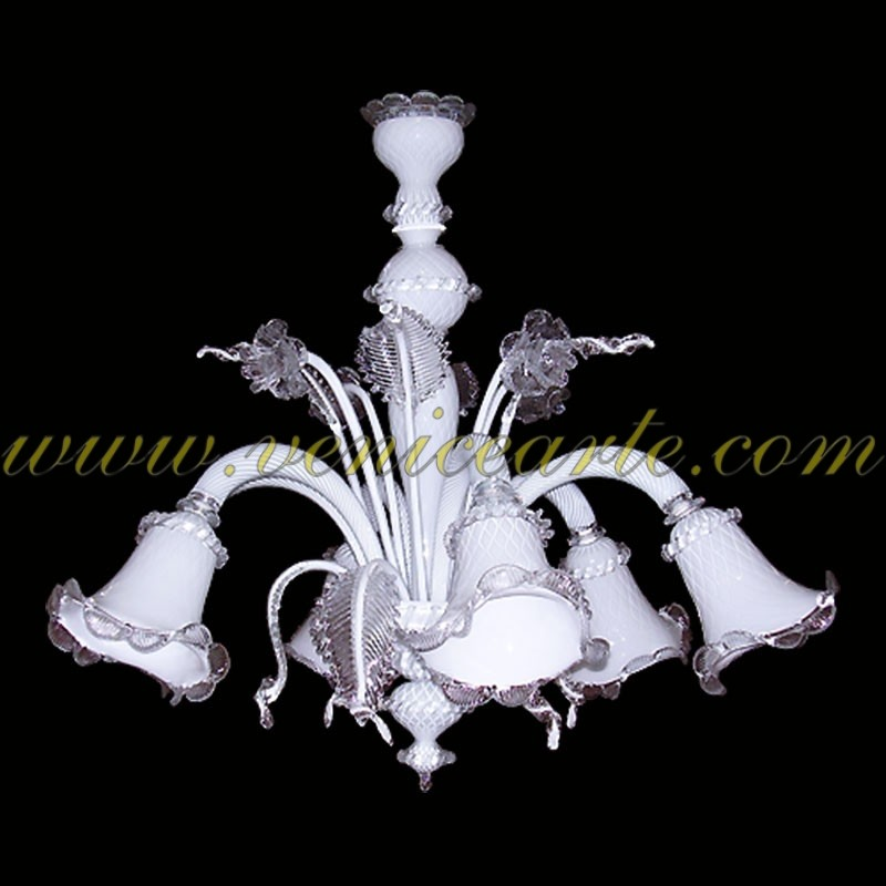Bargain sale venice arte murano chandelier z011 white 5 lights aloadofball Gallery