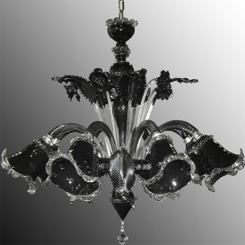 Murano Chandelier Z011 Black 8 lights