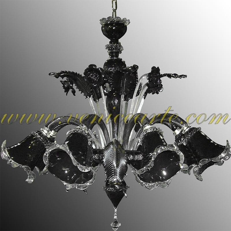 z011 lustre en verre de murano. Black Bedroom Furniture Sets. Home Design Ideas