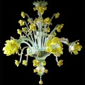 Yellow Roses 6 lights - Murano glass chandelier