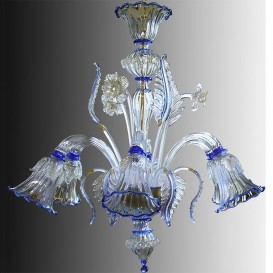 25/6 - Murano glass Chandelier 6 lights