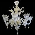 23/6 - Murano glass Chandelier 6 lights
