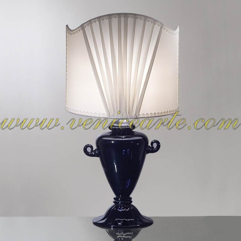 lampe de table en verre de murano 806. Black Bedroom Furniture Sets. Home Design Ideas