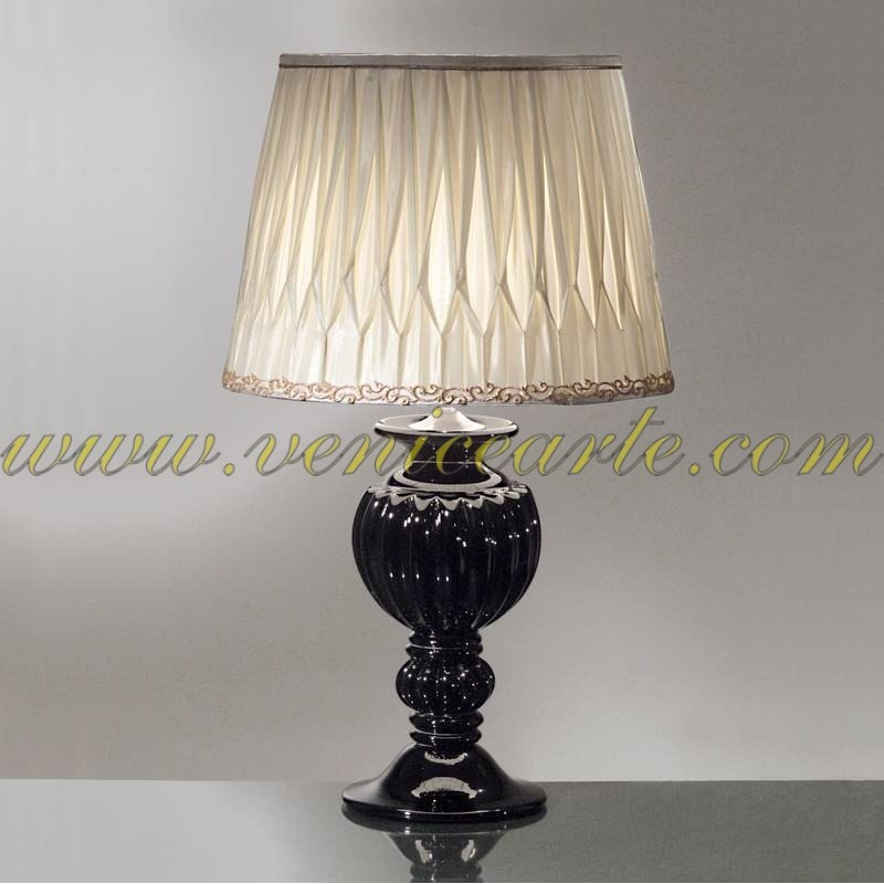 lampe de table en verre de murano 809. Black Bedroom Furniture Sets. Home Design Ideas