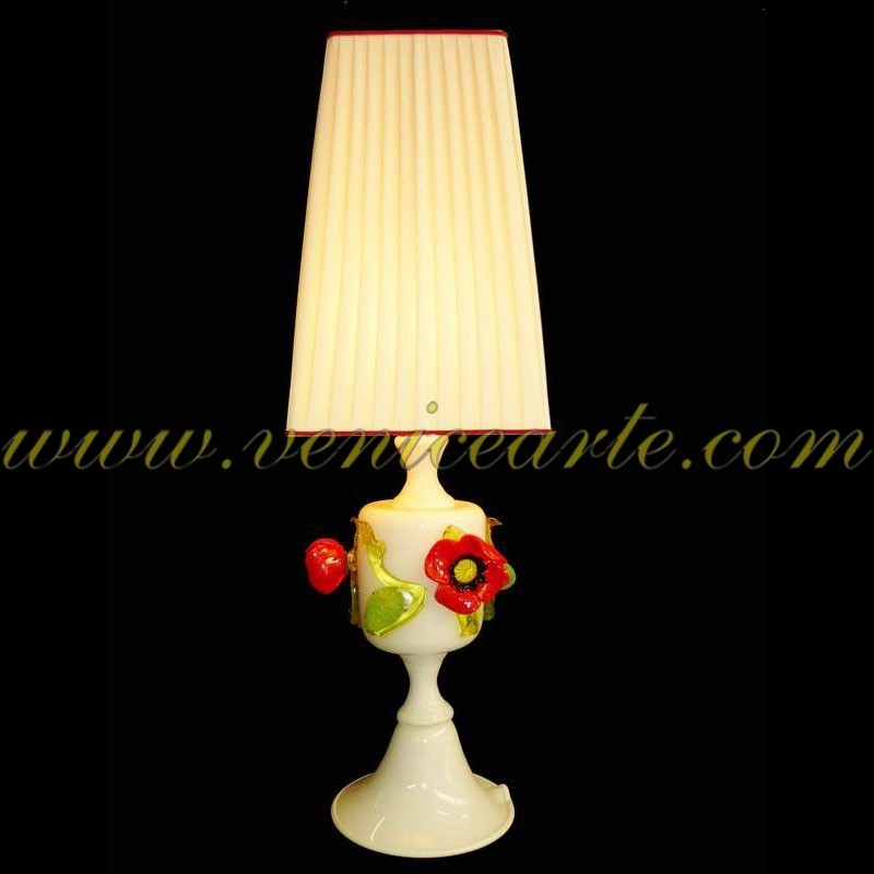 Murano table lamp poppies aloadofball Image collections