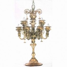 Murano glass Flambeaux Accademia 9 lights