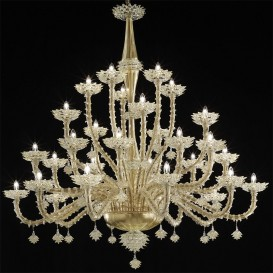 Murano glass chandelier Rezzonico Miami 30 lights