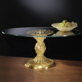 Table ronde en verre de Murano 903