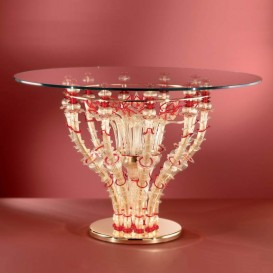 Table ronde en verre de Murano 027t