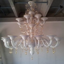 Murano glass chandelier Bibione 24 lights