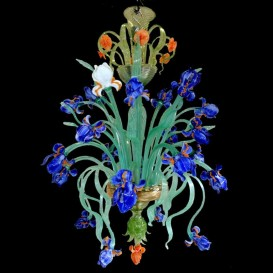 Murano Iris Van Gogh chandelier with 12 lights