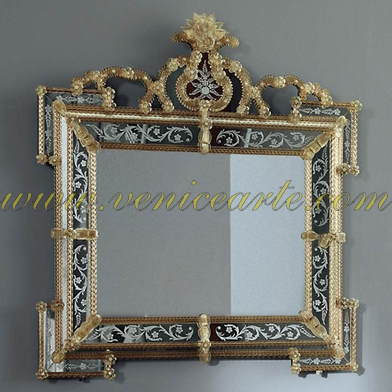Marco venetian horizontal mirror for Espejo horizontal
