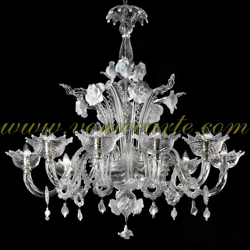 Snow white murano glass chandelier snow mozeypictures Image collections
